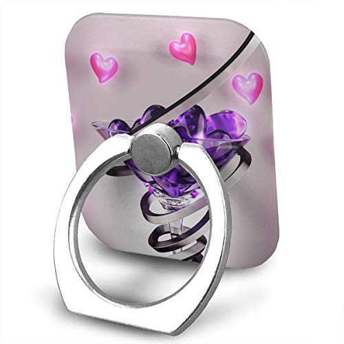Square Finger Ring Stand 360°Rotation Phone Holder Grip Wine Glass Love Heart Kickstand for Smartphones and Ipad