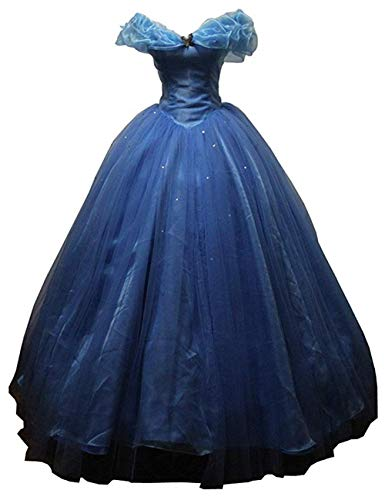 2015 New Blue Women's Cosplay Dress Halloween Party Costumes Custom Made Adult or Child (S) -