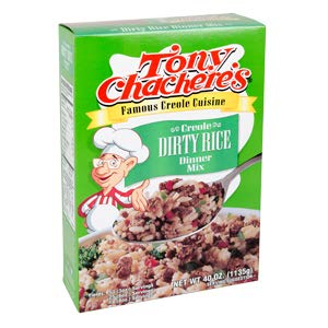 Tony Chachere Dirty Rice Mix, 40-Ounce Boxes (Pack of 8)