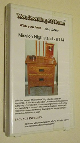Woodworking At Home #114 - Mission Nightstand