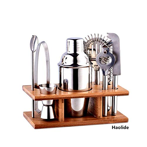 Haolide DenSan Shaker 8 Pieces Stainless Steel Base Kitchen Accessories Cocktail Bar Tool Set, Combo, Party Use