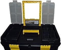 Doble Caja de herramientas de plástico con manija Trolley, 9 ...