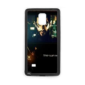 Deus Ex Human Revolution, Adam Jensen, Look, Shots, Graphics funda Samsung Galaxy Note 4 caja funda del teléfono celular del teléfono celular negro cubierta de la caja funda EEECBCAAB09759