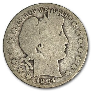 1904 S Barber Half Dollar AG Half Dollar About Good