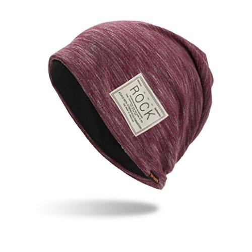 Tpingfe Women Men Warm Baggy Weave Crochet Winter Wool Knit Ski Beanie Skull Caps Hat - Skull Cap Wool Logo
