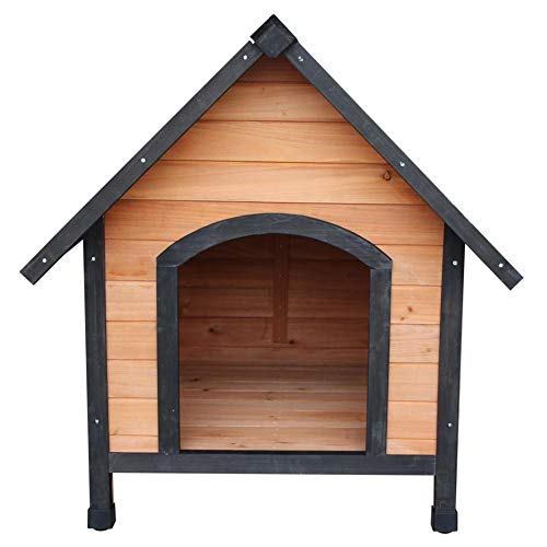 Shuixiang Wooden Dog House Pet Dogs Outdoor Waterproof Bed Shelter Puppy Kennel Nest (Dog Wooden Kennels Outdoor)
