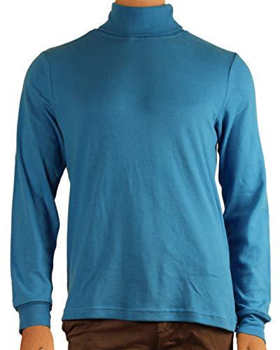 Interlock Turtleneck Cotton Mens (Blue Men's 100% Combed Cotton Supersoft Relaxfit Casual Ski Turtleneck (Small))