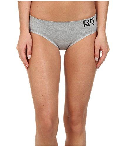 DKNY Women's Energy Bikini, Dark Heather Gray/Black, Large (Dkny String Bikini)