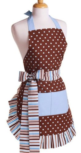 Flirty Aprons Women's Original Blue Chocolate Apron