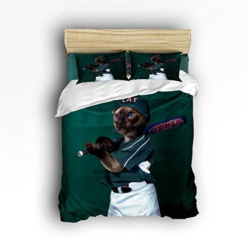 Vandarllin Funny Animal Design 3 Piece Quilt Bedding