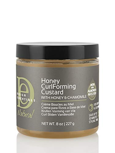 Design Essentials Natural Honey Curl Forming Custard infused with Almond, Avocado, Honey & Chamomile for Intense Shine, Medium Hold and Definition-8oz. (Best Curl Defining Products For Natural Hair 4c)