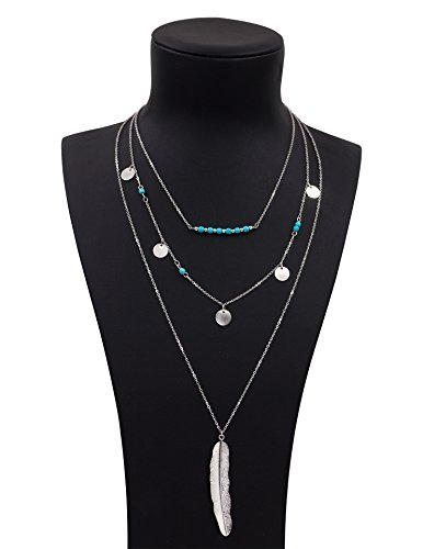 Boosic Vintage Turquoise Multilayer Necklaces