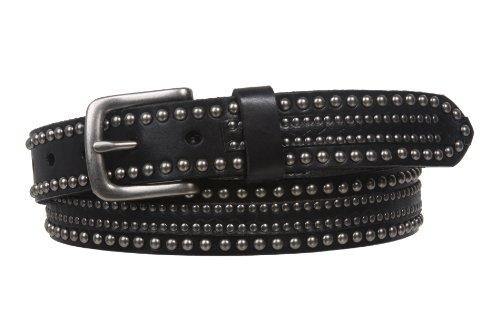 Black Studded Leather - 1 1/8