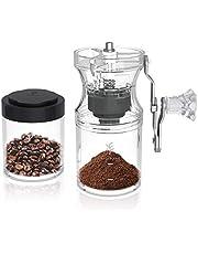 Soulhand Manual Coffee Grinder, Hand Coffee Grinder, Portable Hand Crank Coffee Bean Grinder with Coffee Jar, Adjustable Coarseness Setting, Conical Ceramic Burr Coffee Grinder