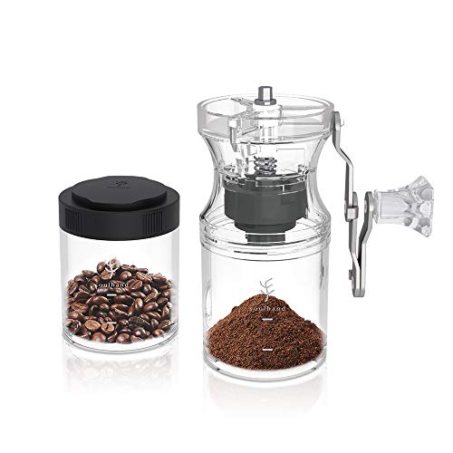 Soulhand Manual Coffee Grinder,Hand Coffee Grinder,Portable Hand Crank Coffee Bean Grinder,Adjustable Coarseness Setting…