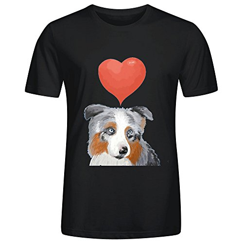An Aussie In Love T Shirts For Men Black (Aussie Flag Dress)