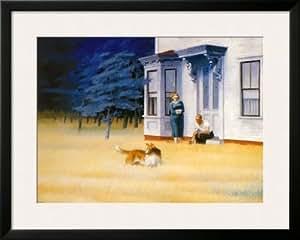 Cape Cod Evening Póster enmarcado impresión de Edward Hopper, 34x 27