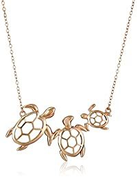 Sterling Silver Turtle Family Necklace, 18""