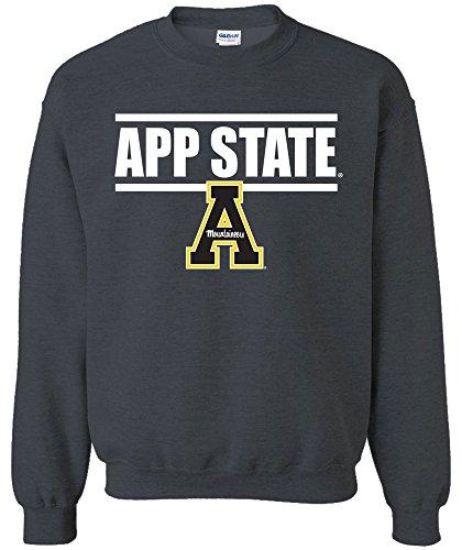 NCAA Appalachian State Mountaineers Bars Logo Crewneck Sweatshirt, X-Large,DarkHeather