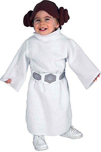 UHC Princess Leia Star Wars Toddler Kids Child Fancy Dress Halloween Costume, 2T-4T