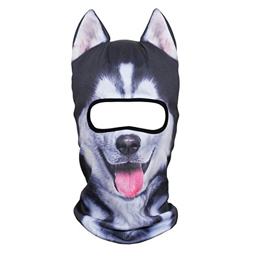 JIUSY 3D Animal Ears Balaclava Face Mask Breathable Hood Outdoor Sports Motorcycle Cycling Ski Halloween Party