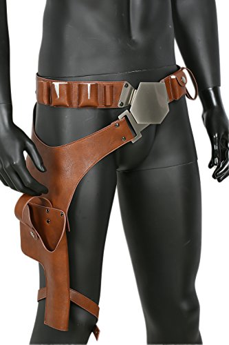 Han Solo Belt with Buckle Updated Holster PU Prop Cosplay Costume Accessory