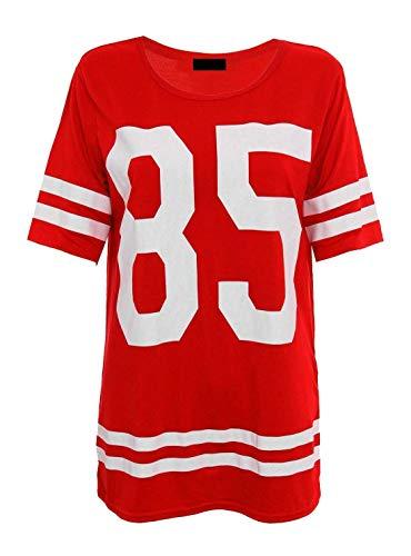 T De 21fashion Femme shirt Courtes Manches Red Sport UqnwZnxg