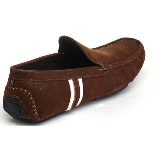 Js Se Réveillent Hommes Peter-32 Glisser Sur Des Mocassins Mocassins Chaussures Marron