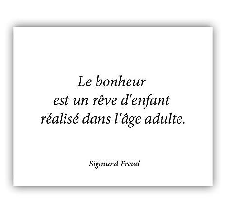 Affiche Citation Grand Format Le Bonheur Est Un Rêve D