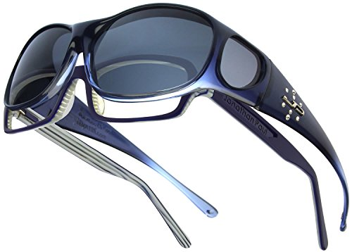 Fitovers Eyewear Element Sunglasses with Swarovski Elements on Temples (Sapphire, PDX ()