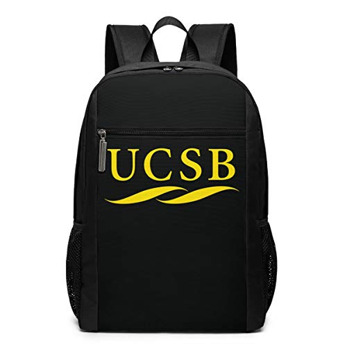 Santa Barbara Backpack - Backpack, Travel Hiking University Of California Santa Barbara UCSB Logo Backpacks Lightweight Mens Womens Unisex Computer Gaming Laptop Shoulder Bag Outdoor Backpacks For Men Women Adults