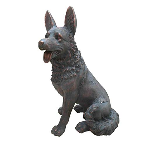 Casamoré German Shepherd Dog Garden Statue Ornament with Bronze Effect Finish Leisure Traders