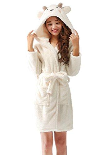 LeaLac Womens Unisex Winter Christmas Animal Hooded Warm Bathrobe Pajamas for Girls