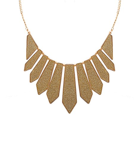 Hswe Collar Necklace For Women Charms Bib Pendant Necklace For Girls  Gold
