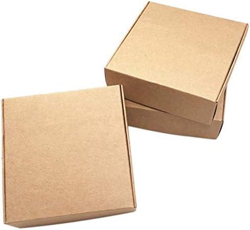 Basage Caja de Papel de Kraft de 100 Piezas Caja de Kraft ...
