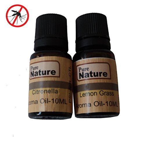 Pure Source Natural Mosquito Repellent Oil, Citronella (10ml) & Lemon Grass (10ml) – 20ml Total