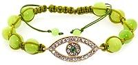 Royal Diamond Evil Eye Shamballa Bracelet (Green)