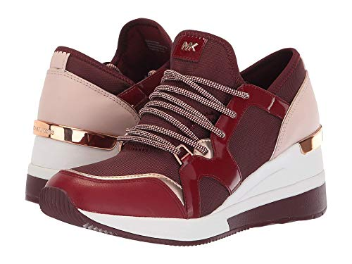 Michael Kors MK Women's Liv Trainer Canvas Sneakers Shoes Oxblood (9, Oxblood)