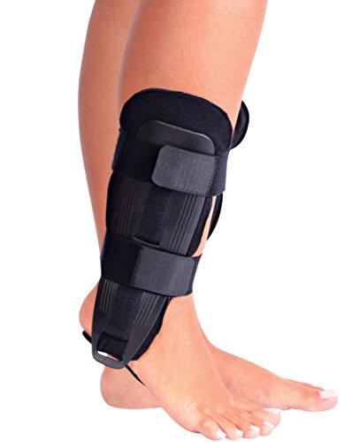 ORTONYX Ankle Stabilizer Brace Stabilizing Stirrup Splint – One Size Fits Most – Black