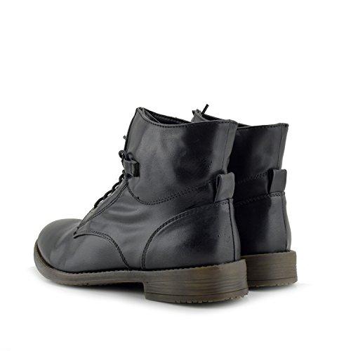 Donne Biker Di Militare Pizzo Piatto Premium Dell'Esercito Lavoratore Zip Delle Black Signore Combattimento Delle Footwear Kick Stivaletti wx71pE7A