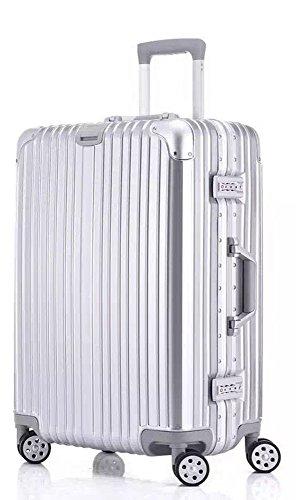 "Cheap Bella Nova Aluminum Frame Suitcase TSA Approved Suitcase (20"", Jewelry Blue)"