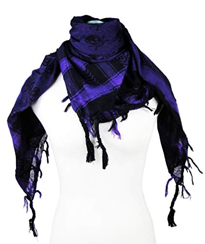 Premium Skull Pattern Shemagh Head Neck Scarf - ()
