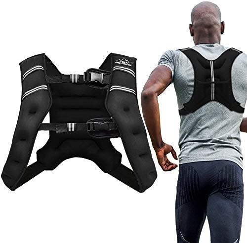 Aduro Sport Weighted Vest Workout Equipment, 4lbs 6lbs 12lbs 20lbs 25lbs Body Weight Vest for Men, Women, Kids