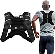 Aduro Sport Weighted Vest Workout Equipment, 4lbs/6lbs/12lbs/20lbs/25lbs/30lbs Body Weight Vest for Men, Women