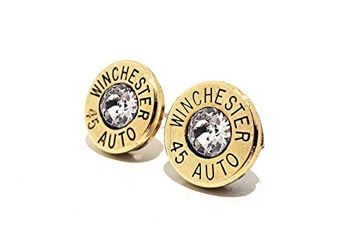 bullet-jewelry-stud-earrings-45-auto-brass-pierced-earring-with-sterling-silver-gift-for-her-gift-fo