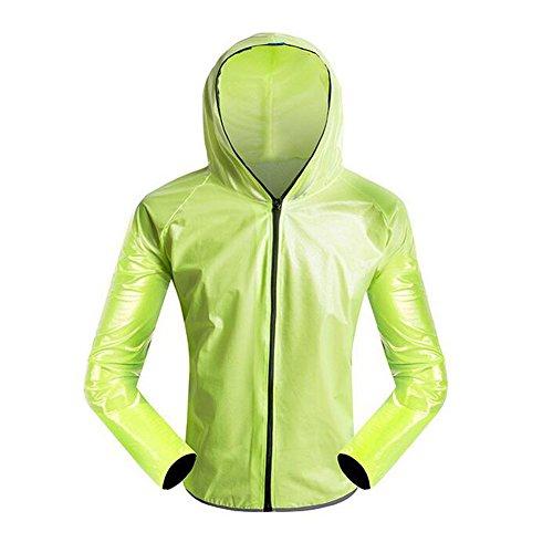 Femmes Plein De Air Deylaying Raincoat Poids Veste Set Pluie Cyclisme Les Pantalons Léger Randonnée Hommes Vert Imperméable Vêtement Bicyclette Sport YX05pX