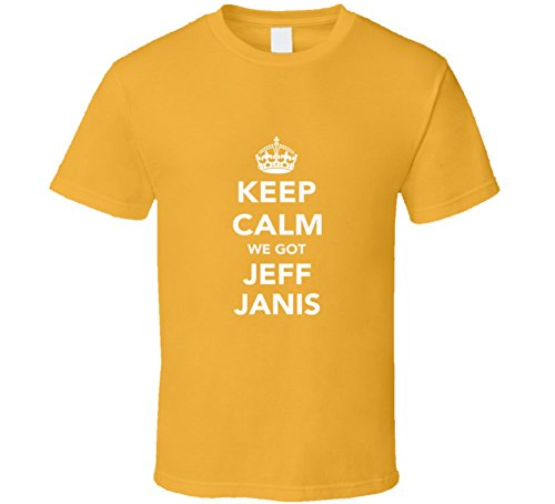 Mad Bro Tees Keep Calm we got Jeff Janis Packers Fan Mens T Shirt L Gold Jeff Gold Graphics