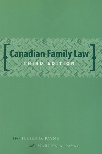 Canadian Family Law (Law in a Nutshell)
