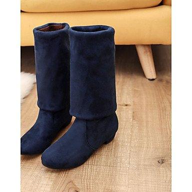 Para Confort Bajo Redonda Altas Mujer Botas El Talón Moda Negro EU39 De Pu Azul Botas Casual RTRY Rojo De Gris UK6 CN39 Puntera Botas Invierno Rodilla US8 Zapatos Marrón xTqP6WXwvU