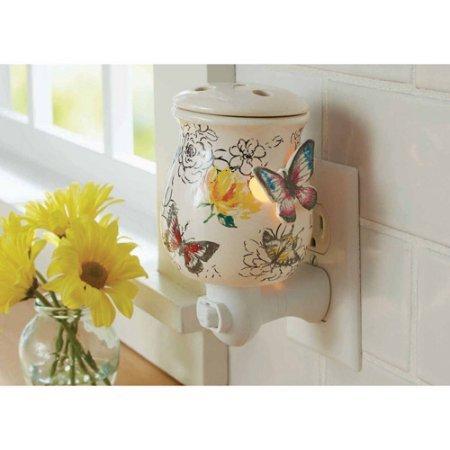 Calentador de cera diseño de mariposas utiliza Uno 15W foco